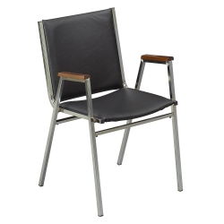 """Stack Chair with Arms 1"""" Vinyl Seat, 51222"""