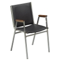 "Stack Chair with Arms 1"" Vinyl Seat, 51222"
