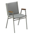 "Stack Chair with Arms 1"" Fabric Seat, 51223"