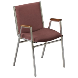 """Stack Chair with Arms 2"""" Fabric Seat, 51225"""
