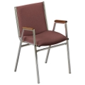 "Stack Chair with Arms 2"" Fabric Seat, 51225"