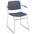 Chrome Sled Base Stack Chair with Arms, 51306