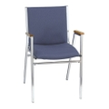 "Designer Fabric Chrome Stack Chair with 2"" Seat, 51308"