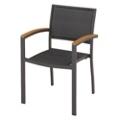 Outdoor Wicker and Teak Chair, 91687