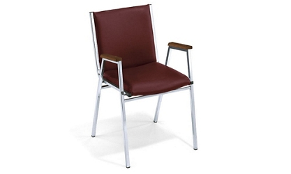 "Stack Chair with 2"" Vinyl Seat and Arms, 51073"