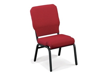 Armless Vinyl Ganging Stack Chair - 400 lb Weight Capacity , 51319