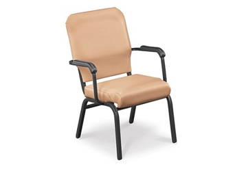 Vinyl Wing Stack Chair with Bolster Seat, 51386