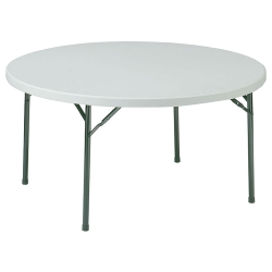 "Lightweight Round Folding Table - 60"" Diameter, 41286"