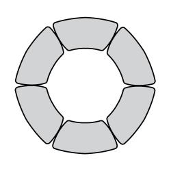 Circle Shaped Meeting Table Set, 41307