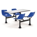 """Cluster Lunchroom Table with Four Chairs - 71""""W x 48""""D, 44521"""