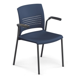 Armless Poly Stack Chair with Arms, 51579