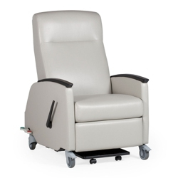 Healthcare Vinyl Recliner with Locking Casters, 25793