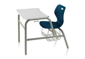 Hard Plastic Top Chair Desk with Bookrack, 51612
