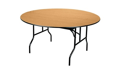 "Round Folding Table- 60"", 41065"