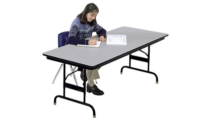 "30"" x 72"" Adjustable Height Folding Table with Honeycomb Top, 46614"