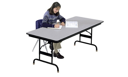 Adjustable Height Folding Table 30x96 Honeycomb Top, 46616