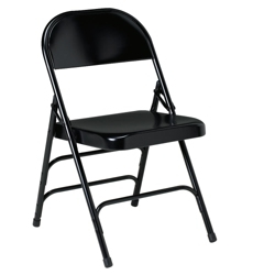 Triple U Brace Steel Folding Chair, 51484