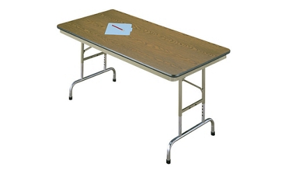 "Adjustable Height Folding Table 36"" x 96"", 46753"