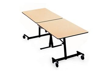 "Black Frame Mobile Folding Table-  96""W x30""D, 41373"