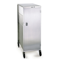 Compact 16 Tray Delivery Cart with One Door, 25299