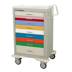 Color Coded 9 Drawer Pediatric Cart, 25574
