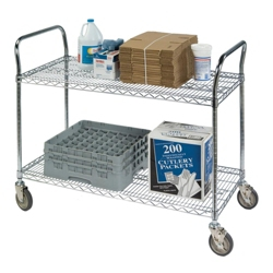 "Lakeside 60""x18"" Utility Cart with Wire Shelves, 31807"