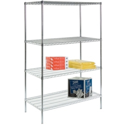 "Lakeside 48""Wx18""Dx72""H Wire Shelving Unit, 31814"