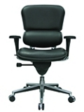 Mid Back Leather Chair, 56510
