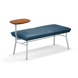 Uptown Two-Seat Bench with Tablet Arm in Fabric Upholstery, 75172
