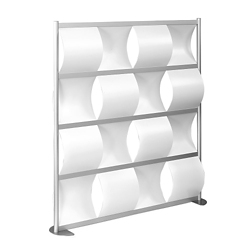 "52""W x 78""H Wave Panel Wall Partition, 20109"