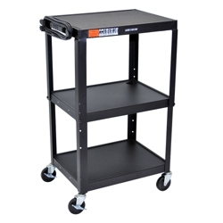 Adjustable Height Steel AV Cart, 43203