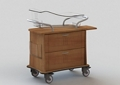 """Two Drawer Bassinet - 34""""W, 26632"""