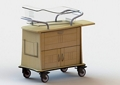 """One Drawer and Two Door Bassinet - 34""""W, 26639"""