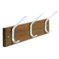"Laminate Three Double Hook Coat Rack - 18""W, 90194"