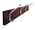 "Laminate Four Double Hook Coat Rack - 34""W, 90195"