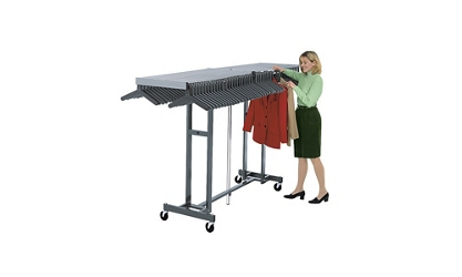 Folding Coat Rack and Shelf for Hangers Holds 96 Coats, 75174