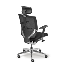 Arris High-Back Mesh Chair with Memory Foam Fabric Seat, 50788