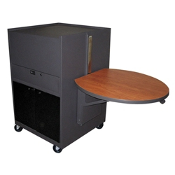 Mobile Media Cart with Acrylic Door, 43217