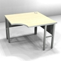 "Curved-Front Corner Workstation - 42""W x 24""D , 21391"