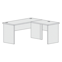 "L-Shaped Workstation with Reversible Return - 60""W, 21399"