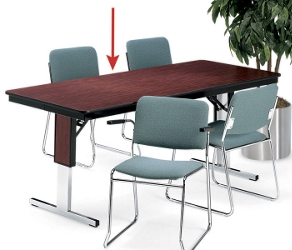"Rectangular Adjustable Height Folding Conference Table - 72"" x 36"", 40546"