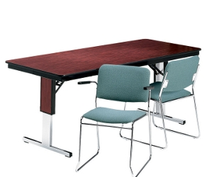 "Rectangular Adjustable Height Folding Conference Table - 72"" x 24"", 40544"