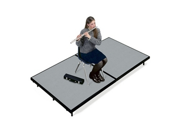 "Mobile Stage 4x8x8"" High With Gray Poly Surface, 10293"