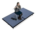 "Mobile Stage 6x8x24"" High With Gray Poly Surface, 10299"