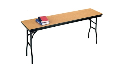 "Narrow Folding Table - 18"" x 72"", 46568"