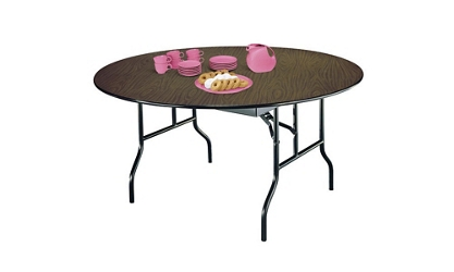 "Plywood Folding Table 66"" Round, 46576"