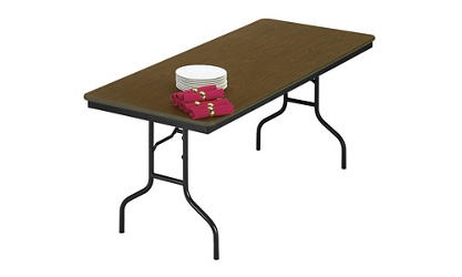 "Laminate Plywood Folding Table 36"" wide x 72"" long, 46582"