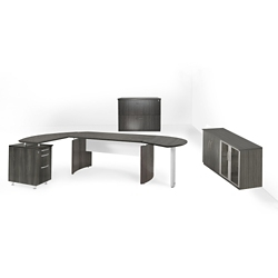 Executive Left L-Desk with Wall Storage, 14466