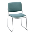 Heavy-Duty Fabric Armless Sled Base Stack Chair, 51140