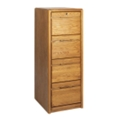 "Medium Oak Four Drawer Vertical File - 20.75""W, 10525"